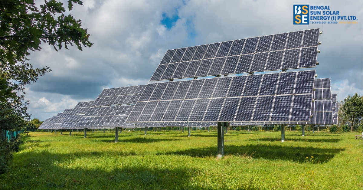 How far has India been able to establish solar panel grids?