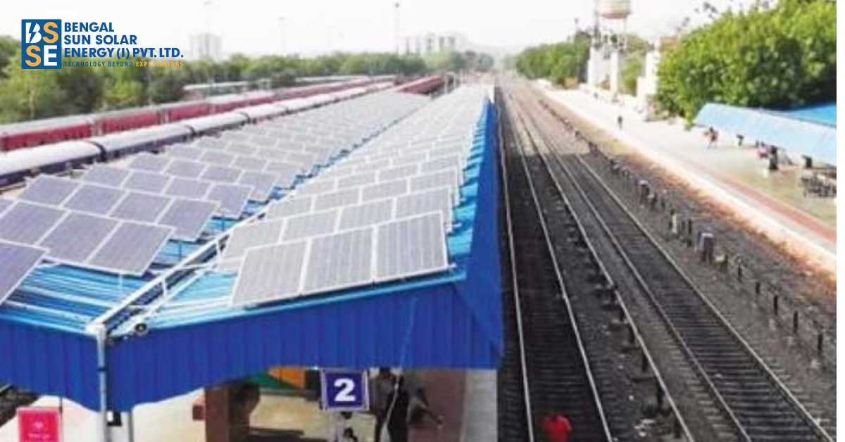 How are the Indian Railways getting transformed with the use of solar energy?